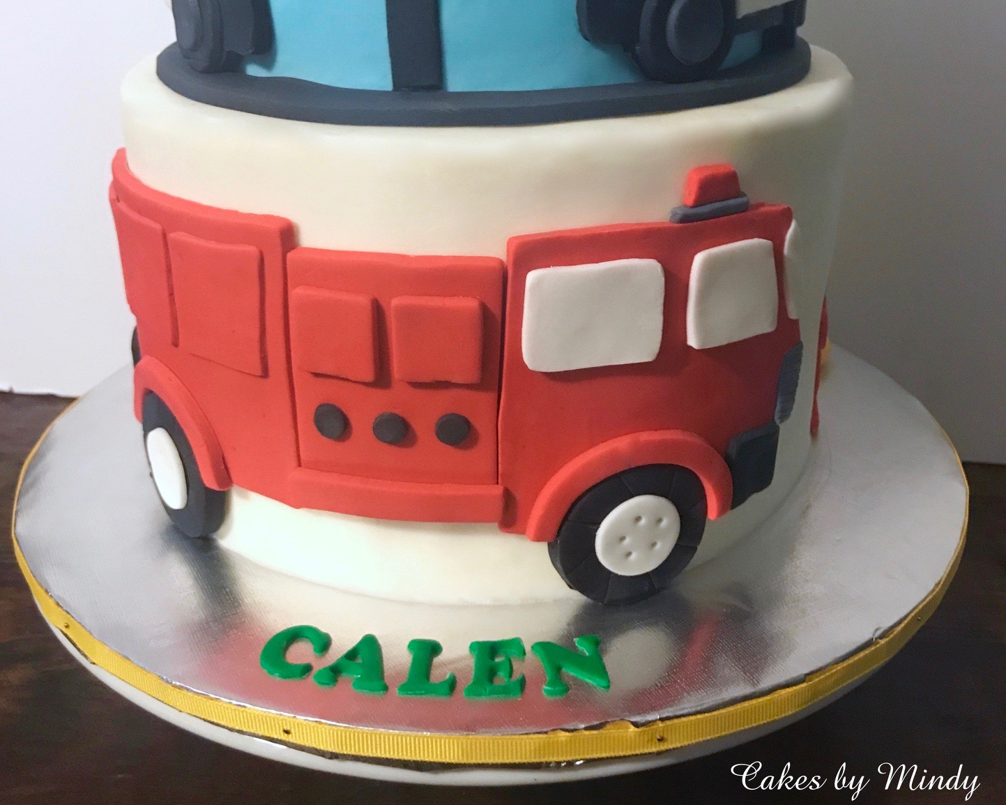 Enjoyable Cakes By Mindy Fire And Police Birthday Cake 6 8 Funny Birthday Cards Online Alyptdamsfinfo