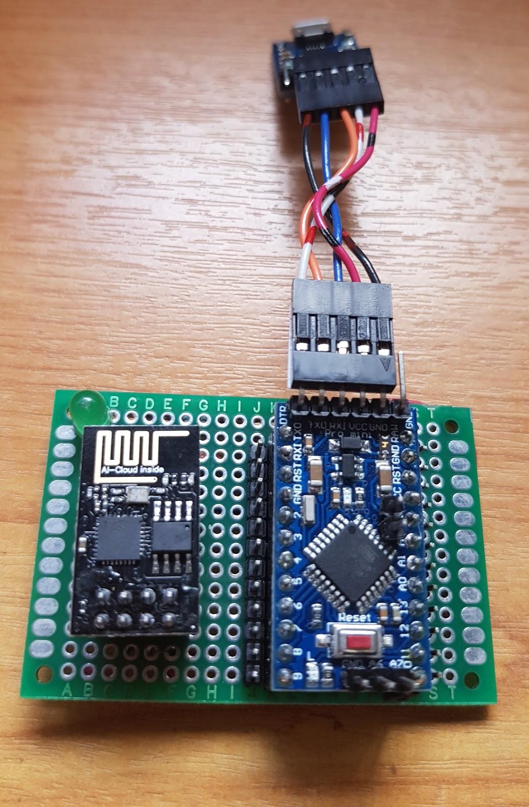 Using ESP-Link transparent bridge (ESP-01 and Arduino Pro Mini)