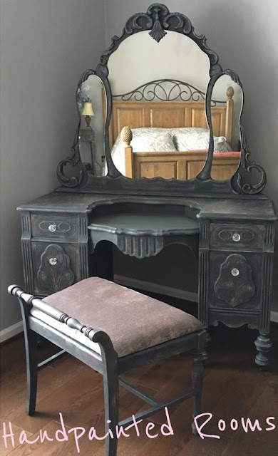 vanity with glass knobs