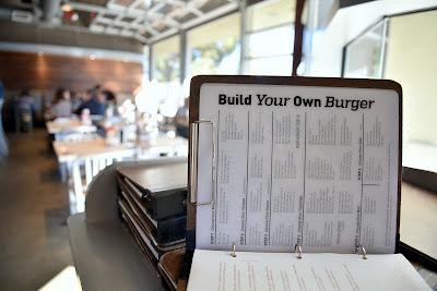 Menu to Build Your Own Burger