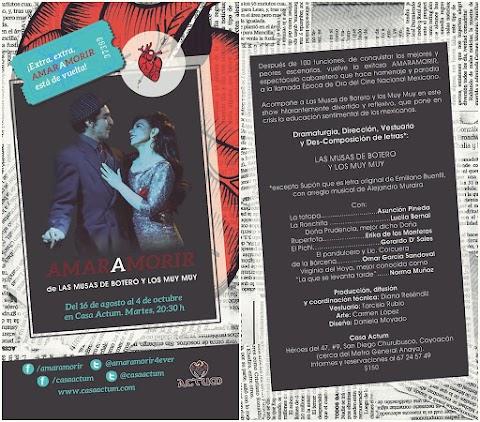 CULTURA DIGITAL Amaramorir, Teatro Cabaret…