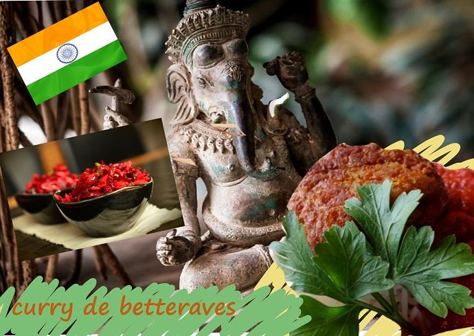 curry de betteraves, Inde, cuisine, sans gluten, vegan, végétalien, végétarienne