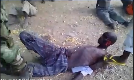 Nigerian Army Reacts To Video of  Soldiers Cutting A Criminal's Leg