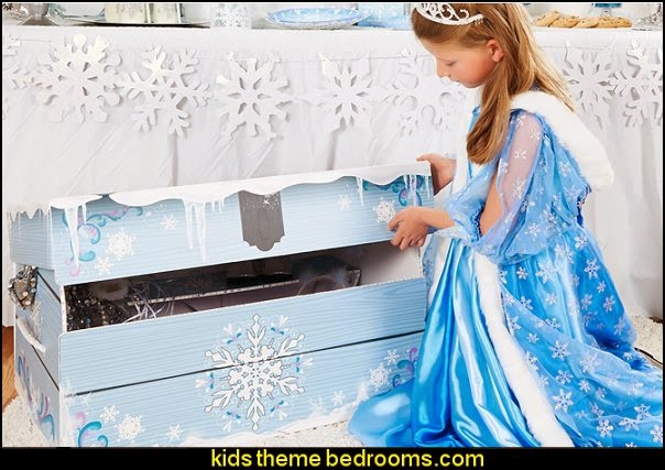 Snowflake Play Trunk Frozen themed birthday party ideas - Disney Princess Costumes - Disney Frozen Party Supplies Elsa, Anna, Olaf  - Disney Frozen theme - Frozen Birthday Invitations - frozen party supplies winter wonderland theme - snowflake themed birthday party - frozen costume - Frozen costumes - Frozen Elsa costumes -