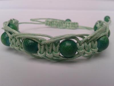 makrama biżuteria zielona bransoletka
