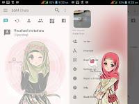 Download BBM MOD Transparent Hijab Cute v3.2.5.12 Apk Terbaru