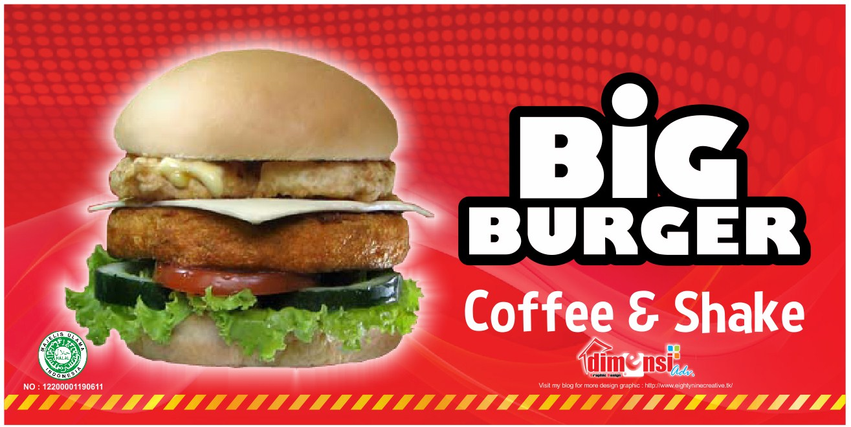 Contoh Banner Burger - gambar spanduk