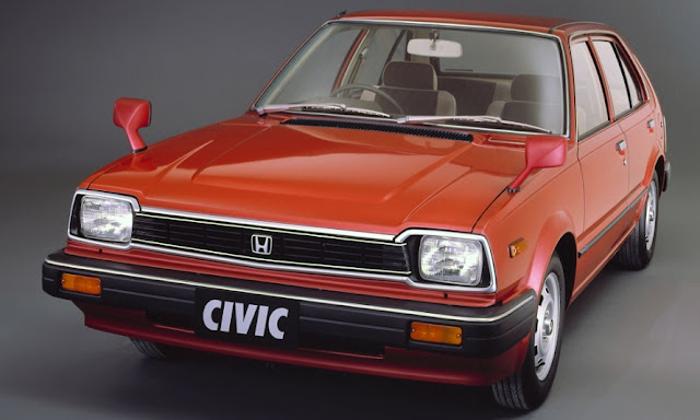 Red Honda Civic second generation 5-door 1300 EF JP-spec (1982-1983)