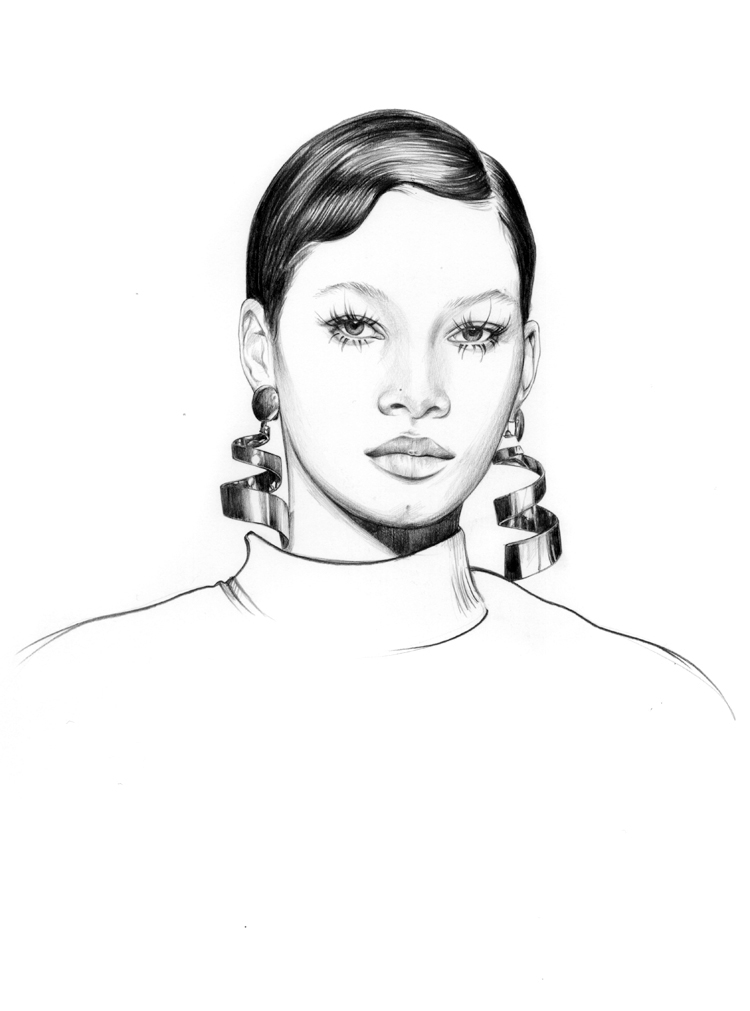 03-Caroline-Andrieu-Fashion-Shows-Distilled-into-Drawing-Portraits-www-designstack-co