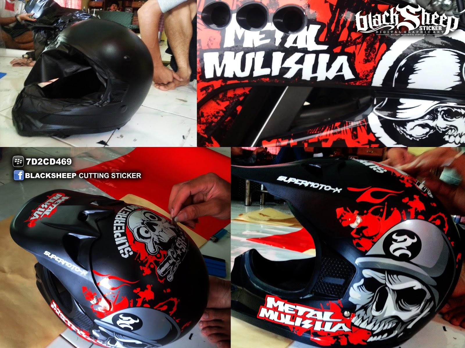 Helmet custom sticker