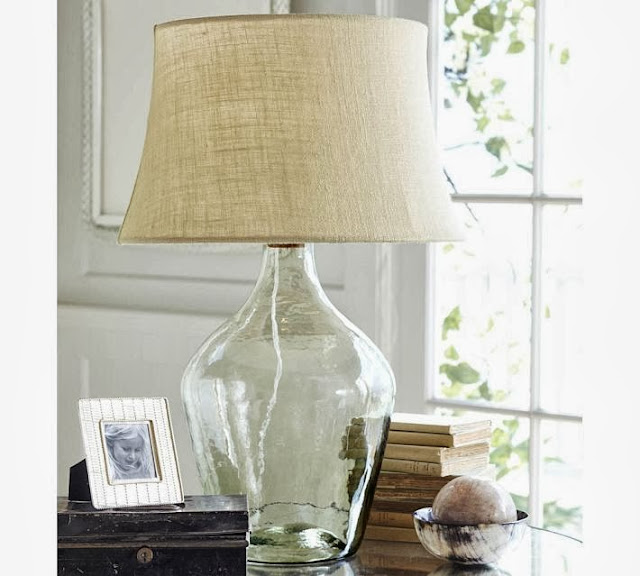 Copy Cat Chic Pottery Barn Clift Glass Table Lamp