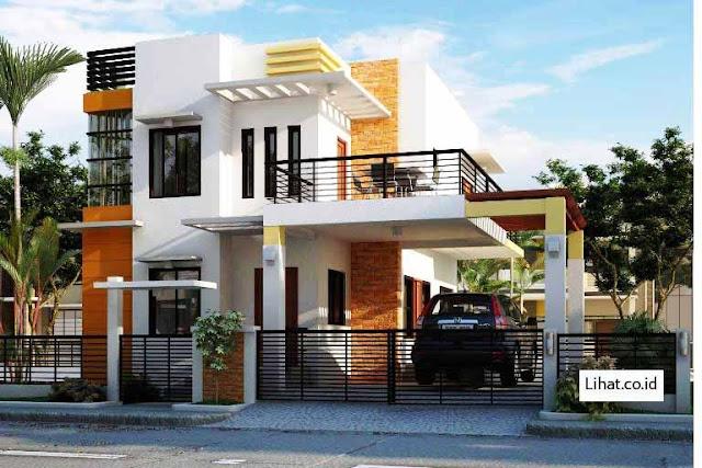 17 Model Rumah minimalis dua lantai Oke tahun 2020