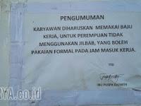 Karyawati Dilarang Pakai Jilbab, DPRD Pun Dilarang Masuk ke Pabrik di Gresik