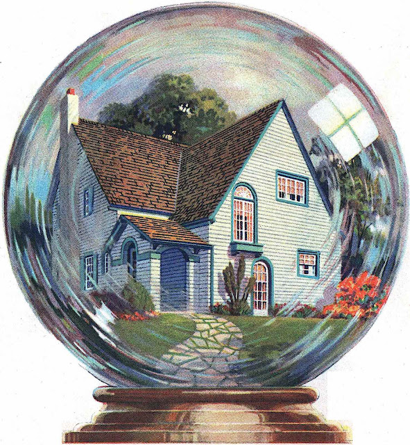 a large color illustration of a 1925 crystal ball