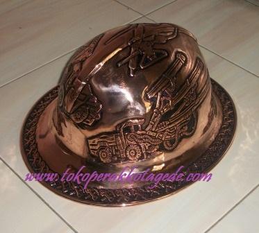 helem ukir tembaga - caft of copper metal