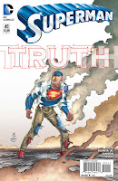 SUPERMAN #41 Writer: Gene Luen Yang Artist: John Romita Jr., Karl Kerschl Inker: Klaus Janson Colors: Dean White Letters: Rob Leigh.  Superman created by Jerry Siegel and Joe Shuster.