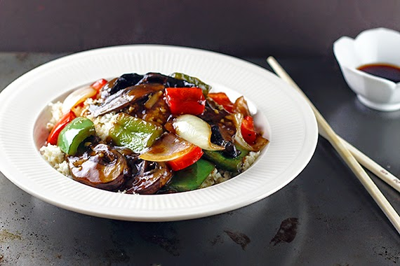 "Chinese Portabello Pepper ""Steak"""