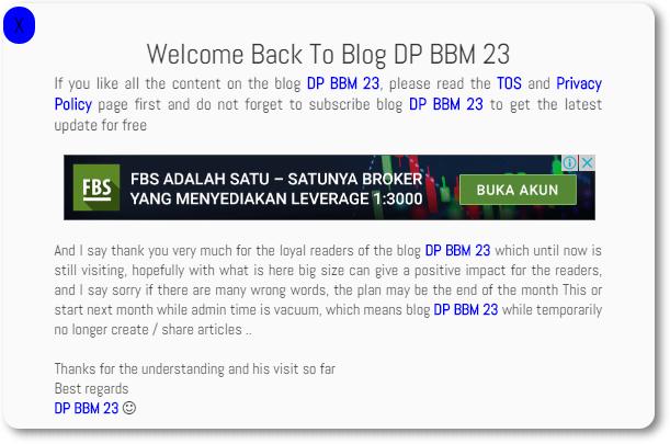 Saatnya Admin Blog DP BBM 23 Mengucapkan Selamat Tinggal