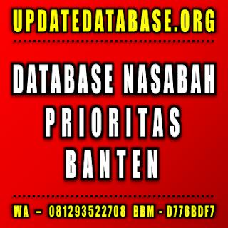 Jual Database Nasabah Banten