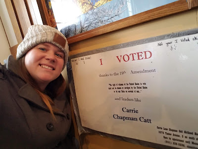 Women's right to vote thanks to leaders like Carrie Chapman Catt