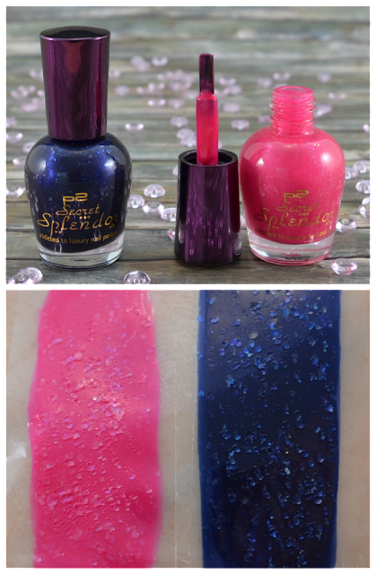 P2 secret splendor LE Nagellacke 010 pink diamond und 020 illustrious opal und Swatches