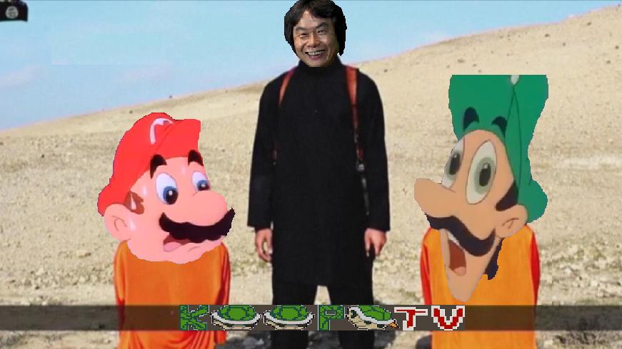ISIS kidnaps two Japanese meme with Mario, Luigi Shigeru Miyamoto KoopaTV