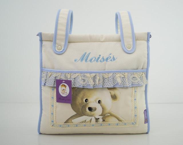 bolso osos celeste beige bugaboo
