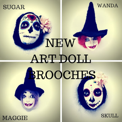 Art Doll brooches