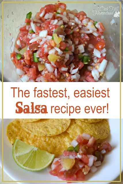 How to make super-simple salsa.