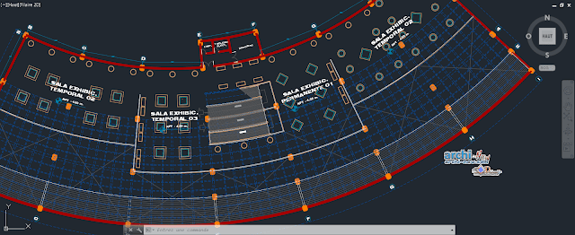 Museum building in AutoCAD
