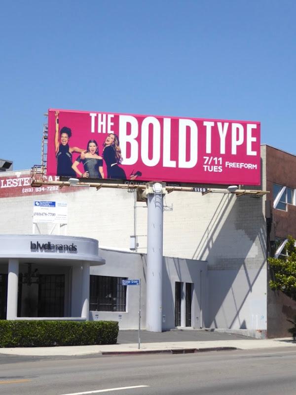 Bold Type series launch billboard