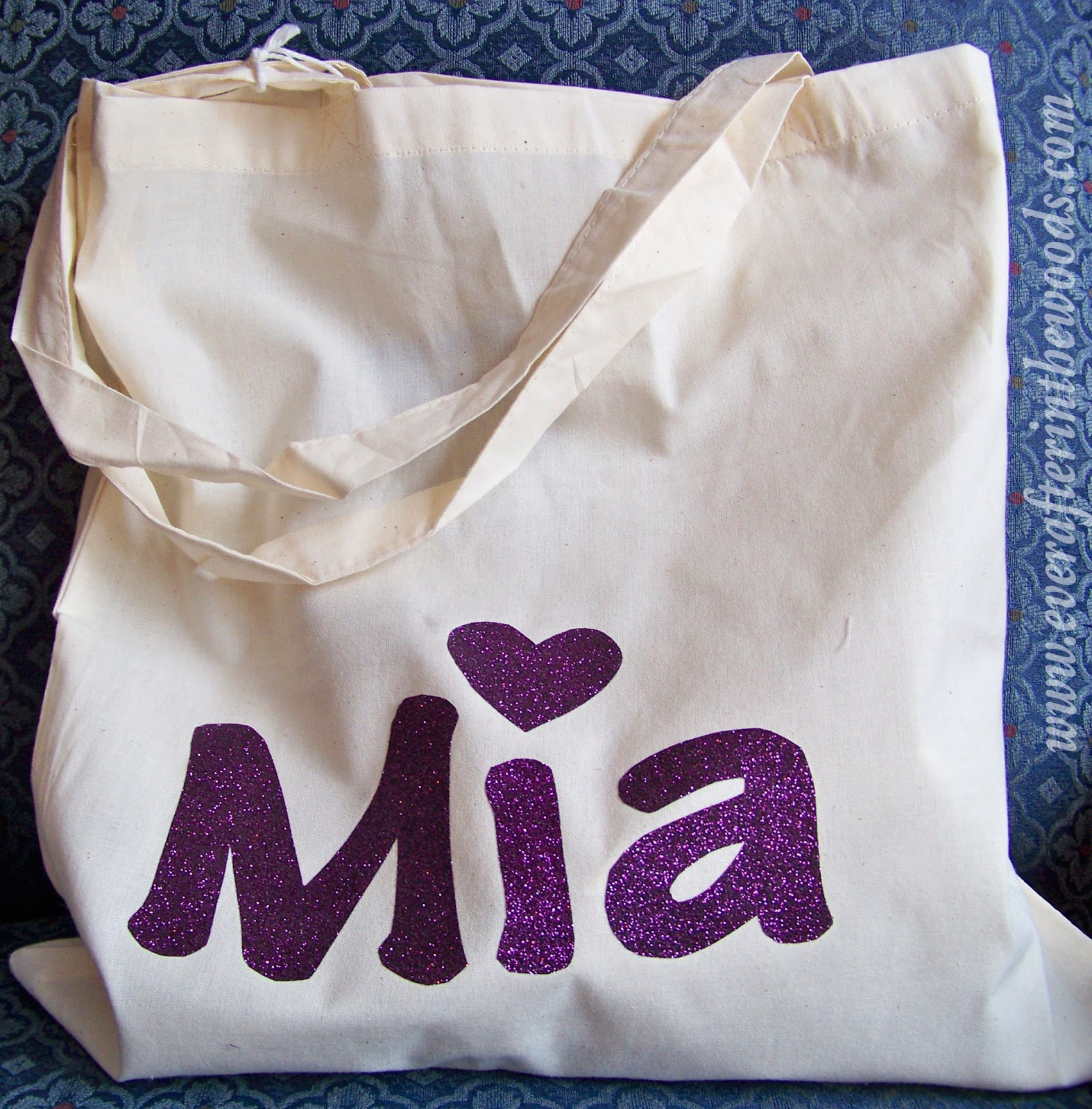 Diy Vinyl Craft Ideas Kids Personalized Glitter Tote Bag Ever After In The Woods