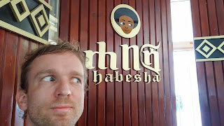 Me in Addis at one of the most famous brand for export