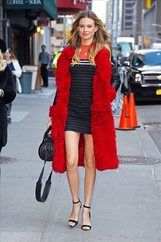 celebrity Behati Prinsloo In New York City