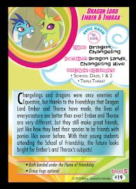 MLP Dragon Lord Ember & Thorax Series 5 Trading Card