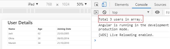 Angular Service example
