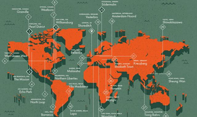 The Hipster Neighbourhoods Map