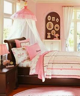cuarto niña rosa chocolate