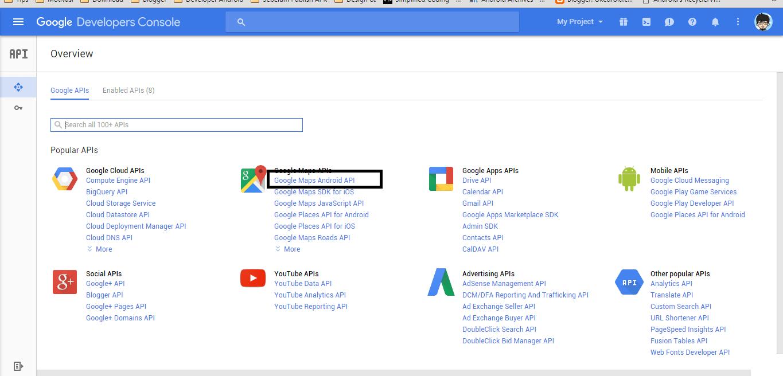 Cara mendapatkan google maps api key android okedroid - Google map api key console ...