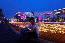Menikmati Malam di Taman Bunga Sakura Mall Aeon Tangerang Selatan