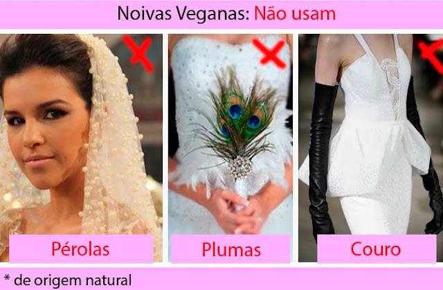 Noivas veganas vestidos não pode ter