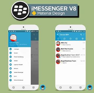 BBM Mod iMessenger V8 Material Design (Original) Unclone Base v3.1.0.13 Apk Terbaru