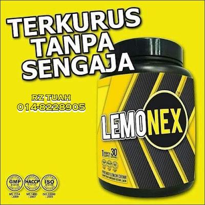 lemonex jus bakar lemak kawal berat badan