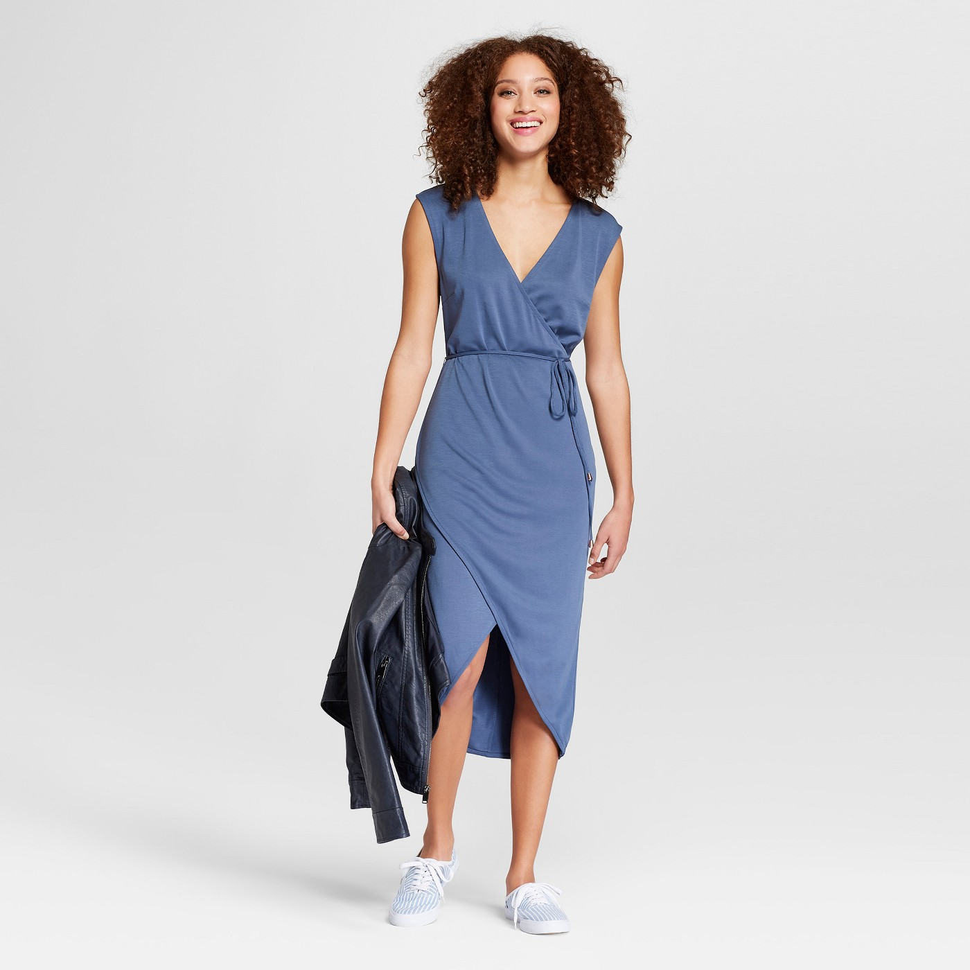 Women's Sleeveless Knit Wrap Dress - A New Day