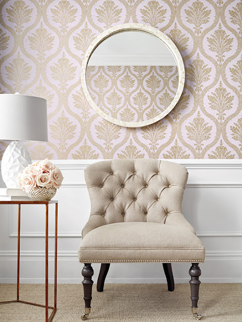 Wallpaper can be daunting to shop for, commit to and hang. But when you do it correctly, it really MAKES a room. It not only provides a big pattern that creates impact but it actually makes the rest of the room easier to design because you have this super solid style that leads everything