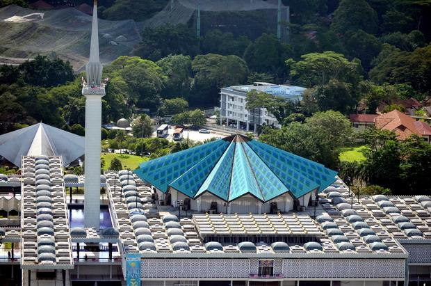 Blue Paper Umbrella Masjid Negara