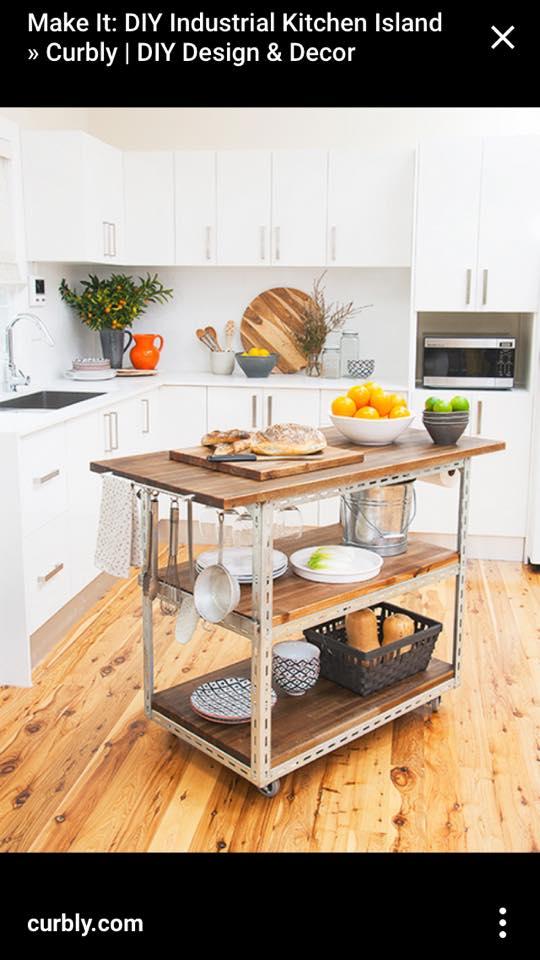 Diy Butcher Block Kitchen Cart : One Brown Mom: DIY - Butcher Block Kitchen Cart