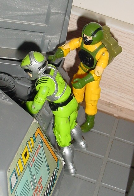 1985 Airtight, 1986 Sci Fi, 1983 G.I. Joe Headquarters, HQ