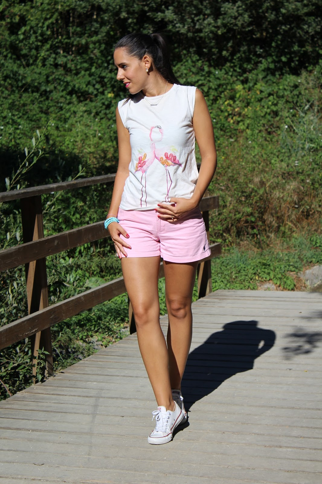 rosa-pink-outfit-shorts-modelo-ropa-blogger-zara