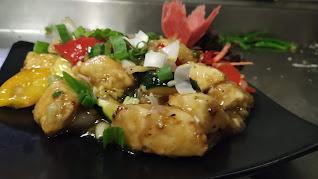 Serving ginger honey paneer recipe